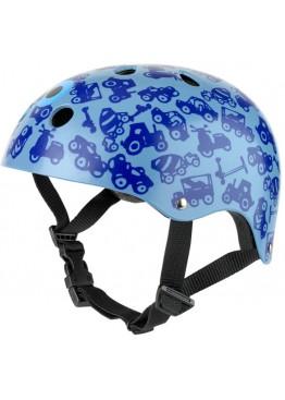 Шлем защитный Micro (синий с рисунком)