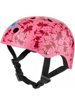 Шлем защитный Micro (розовый с рисунком)