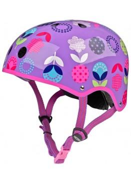 Шлем защитный Micro (сиреневый с рисунком)